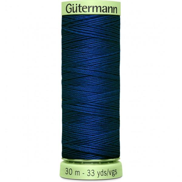 Knopflochgarn - Zierstichfaden - königsblau