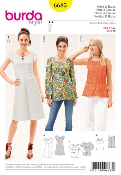Kleid + Bluse + Top - 6685