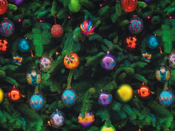"""Baumwolljersey """"Weihnachtskugeln"""""""