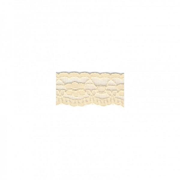 "Nylonspitze Flower 25mm ""beige"""