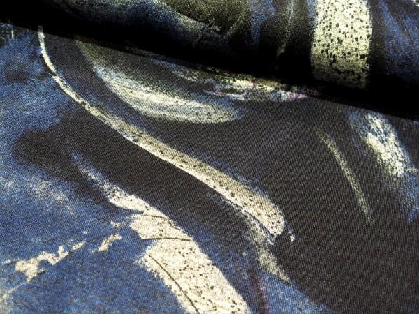 "Strickstoff ""Abstract"" blau"