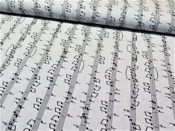 "Canvas ""Musik-Noten"" hellgrau"