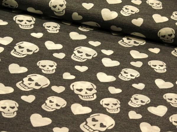 "Jersey ""Skulls"" grau"