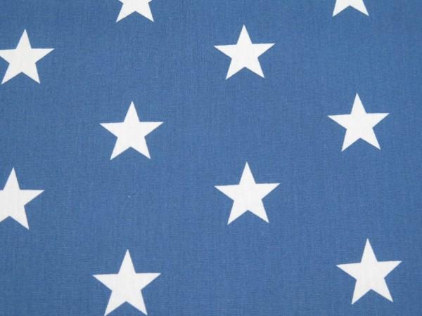 """Baumwollstoff """"big Stars"""" blau"""