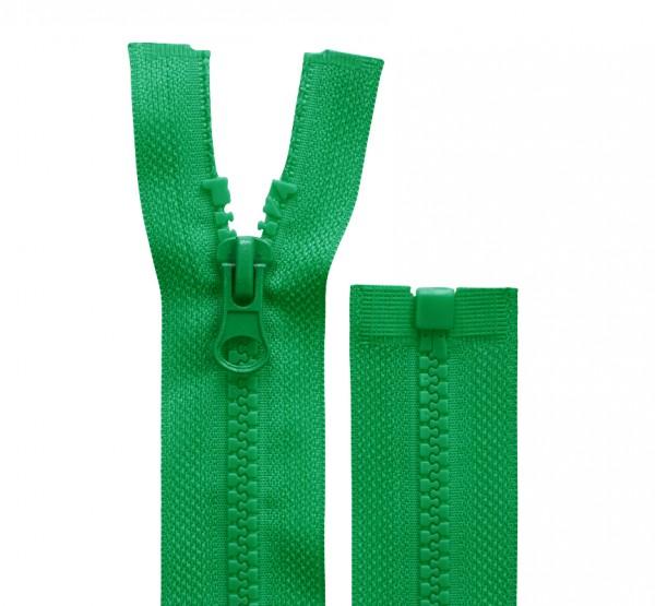 Reissverschluss teilbar - 5mm Dekor - grün