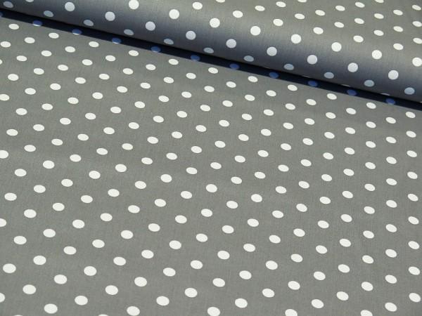 """Baumwollstoff """"Big Dots"""" grau"""
