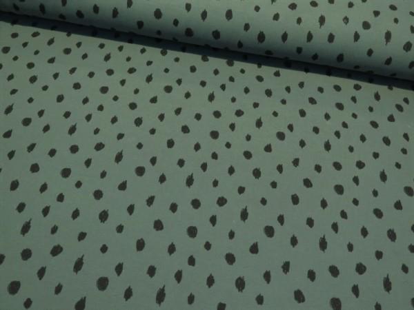 "BIO Kuschelsweat ""Dots"" dusty green"