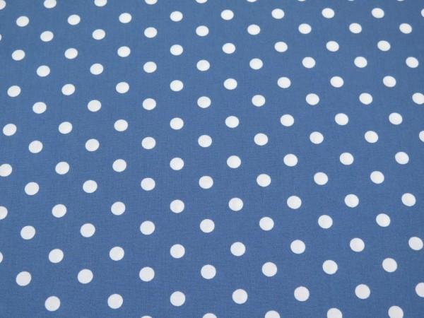 """Baumwollstoff """"Dots"""" blau"""