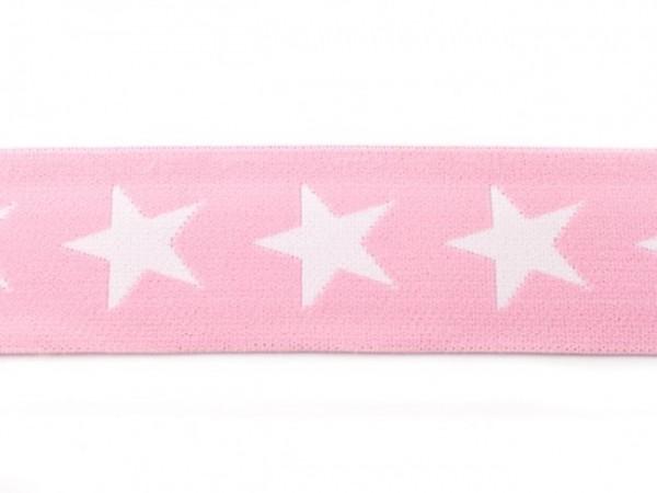 """weicher Gummi 40mm """"Sterne"""" rosa"""