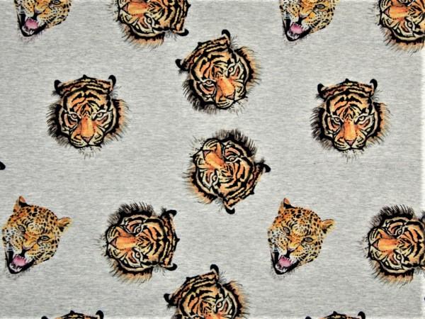 "Sommersweat ""Tiger"" grau meliert"