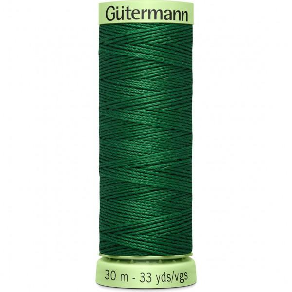 Knopflochgarn - Zierstichfaden - flaschengrün