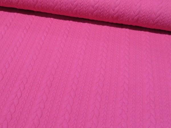 """Jacquardjersey """"Zopf"""" pink"""