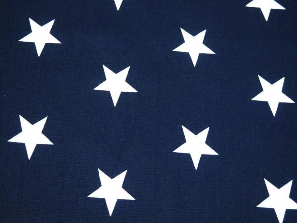 "Baumwollstoff ""big Stars"" navy"