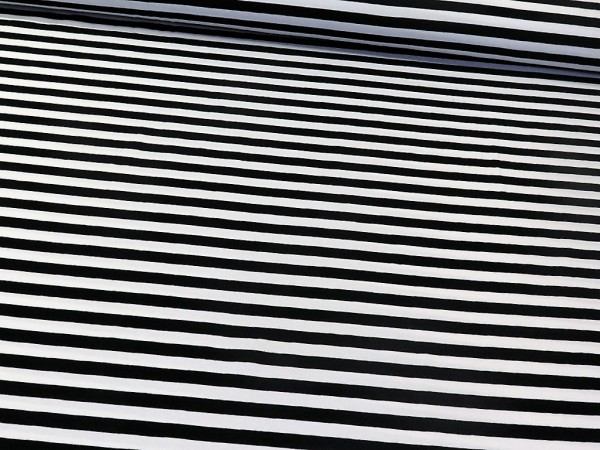 "Baumwolljersey ""Stripes 12mm"" schwarz-weiss"