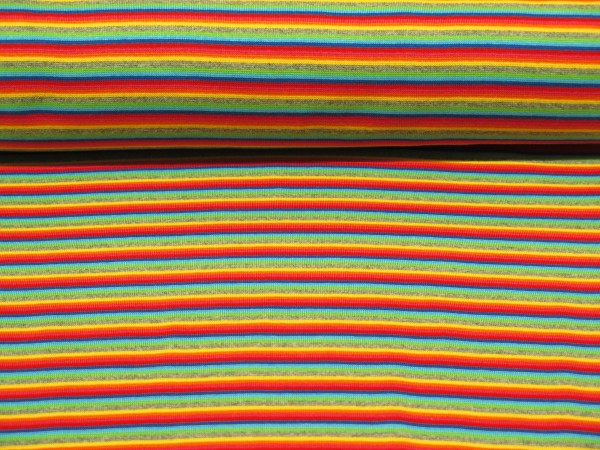 "Bündchen Ringelstreifen ""Multicolor"""