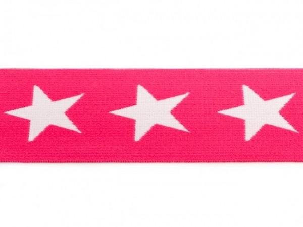 """weicher Gummi 40mm """"Sterne"""" pink"""
