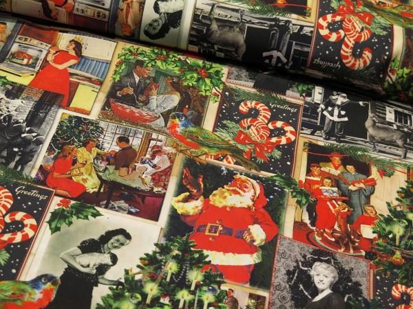 "Baumwollstoff ""Christmas Vintage"""