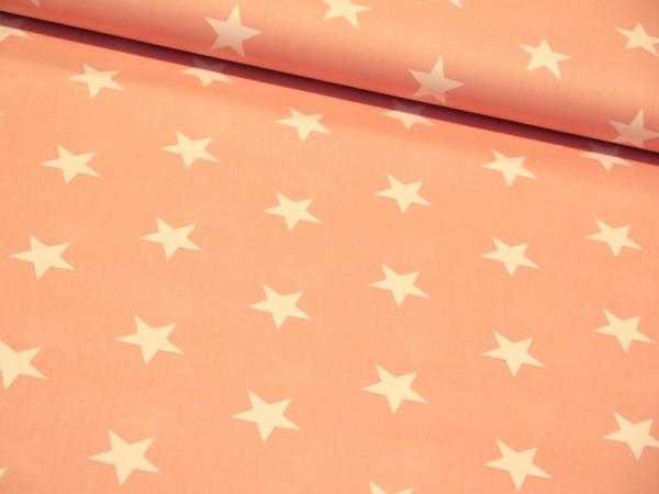 """Baumwollstoff """"Big Star"""" rosa"""