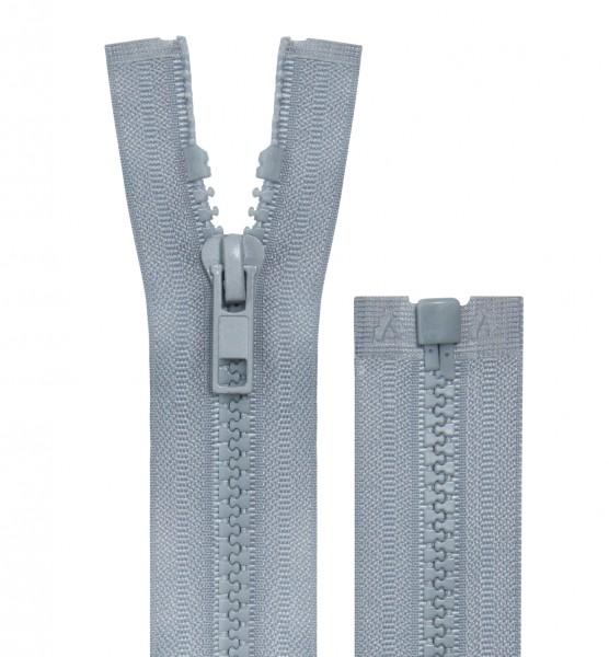 Reissverschluss teilbar - 5mm Dekor - grau