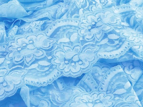 "Spitze Flower "" hellblau "" 9.5cm"