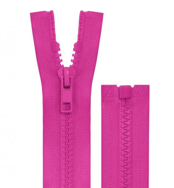 Reissverschluss teilbar - 5mm Dekor - pink