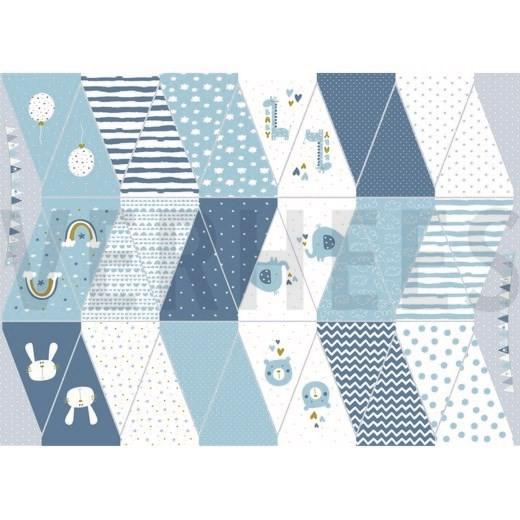 "Baumwollstoff ""Wimpel Panel"" blau"