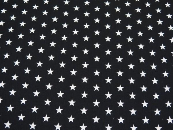"Baumwollstoff ""mini Stars"" schwarz"