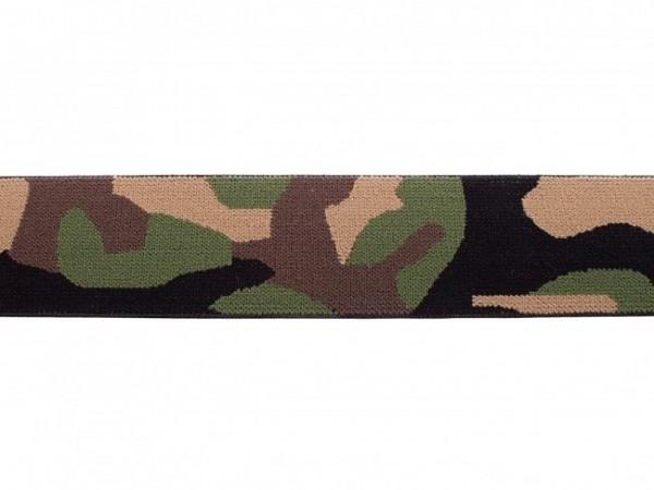 """weicher Gummi 40mm """"Camouflage"""" grün"""