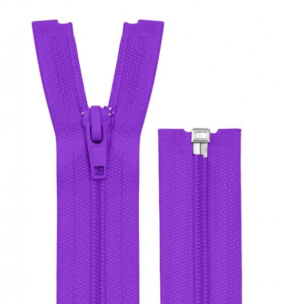 Reissverschluss teilbar - Spirale - violett