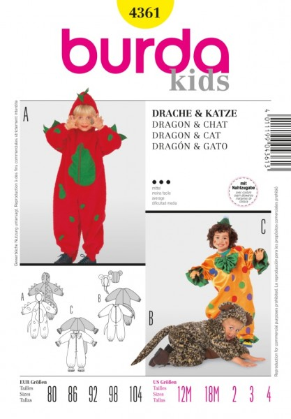 Drache, Clown + Katze - 4361