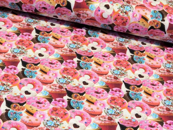 "Baumwolljersey Digital Druck ""Muffins&Cupcakes"""