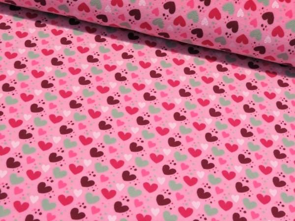 """Nicky Velour """"Herzen"""" rosa"""