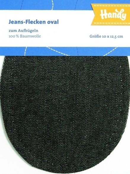 """Jeansflecken oval zum aufbügeln """"schwarz"""""""