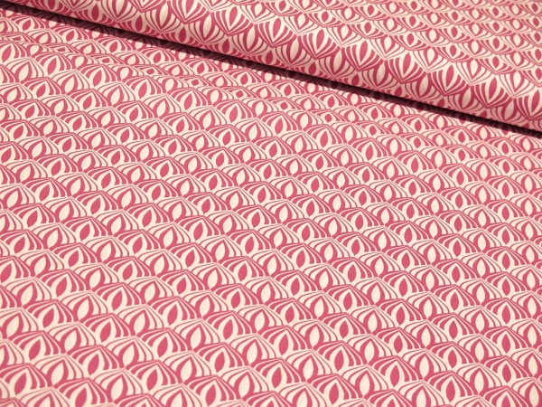 "Baumwollstoff ""Feeling like Spring"" pink"