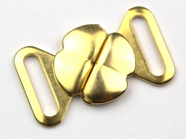 """Bikiniverschluss """" Metall Blume """" gold"""