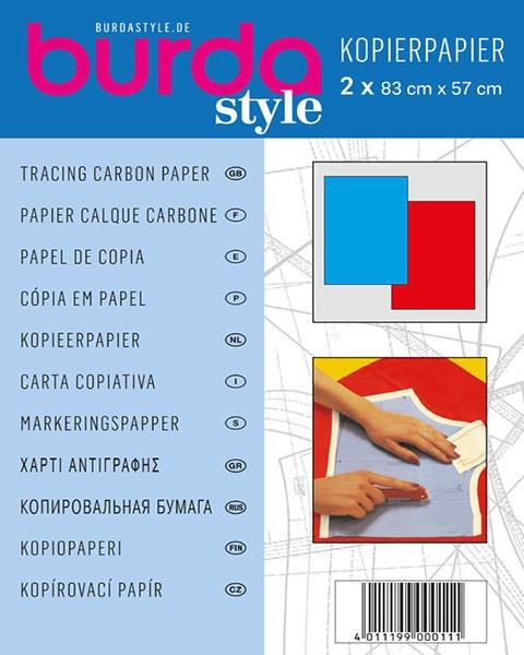 "Kopierpapier ""rot/blau"""