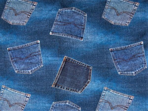 """Baumwolljersey """"Jeans"""" denimlook"""