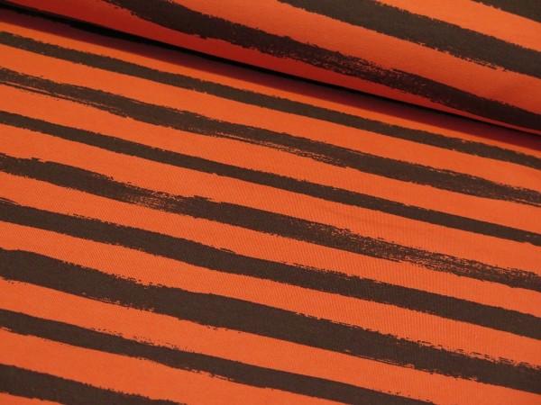 """Sommersweat """"Stripes"""" orange/schwarz"""