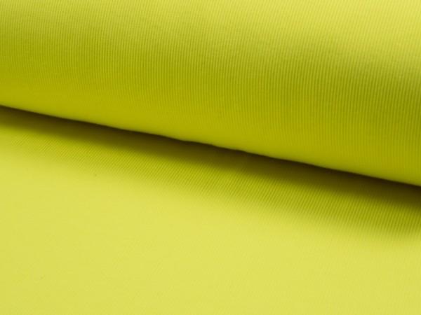 """Rippbündchen Neon """"gelb"""""""