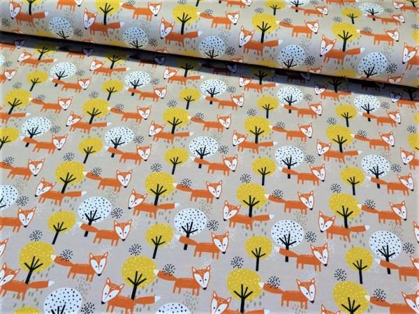 """Sommersweat """"Fuchs"""" beige/orange"""