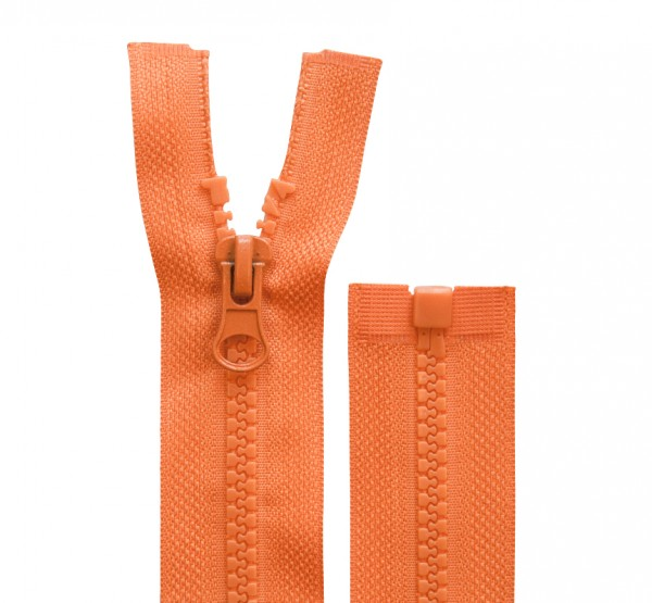 Reissverschluss teilbar - 5mm Dekor - orange