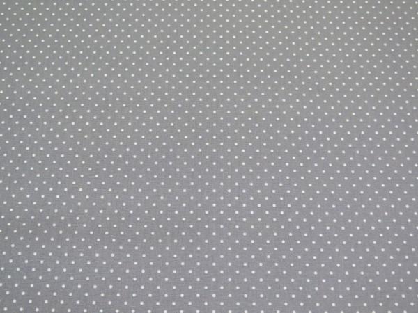 """Baumwollstoff """"mini Dots"""" grau"""