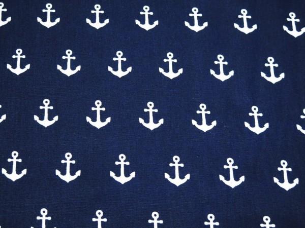 """Baumwollstoff """"Anker"""" navy"""