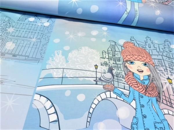 "Sommersweat Panel ""Winter Mädels"""