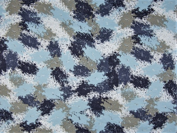 "Kuschelsweat ""Print"" blau"