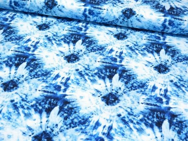 """Sommersweat """"Batik"""" blau"""