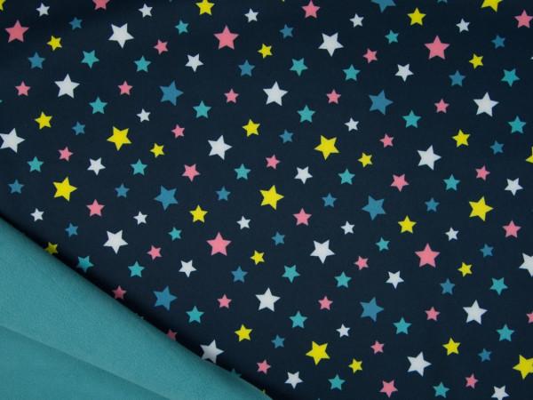 """Softshell """"Sterne"""" dunkelblau"""