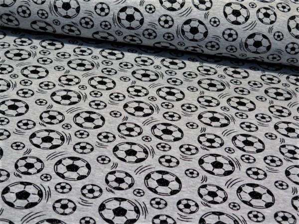 "Alpensweat ""Fußball"" grau meliert"