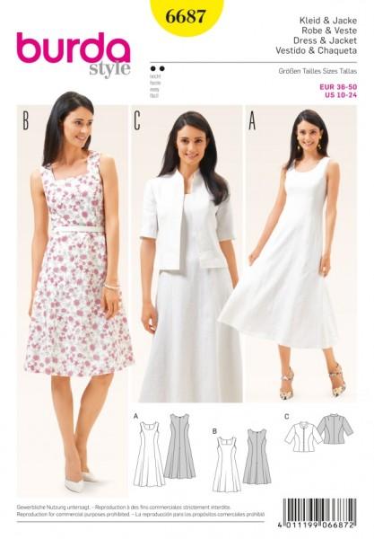 Kleid + Jacke - 6687