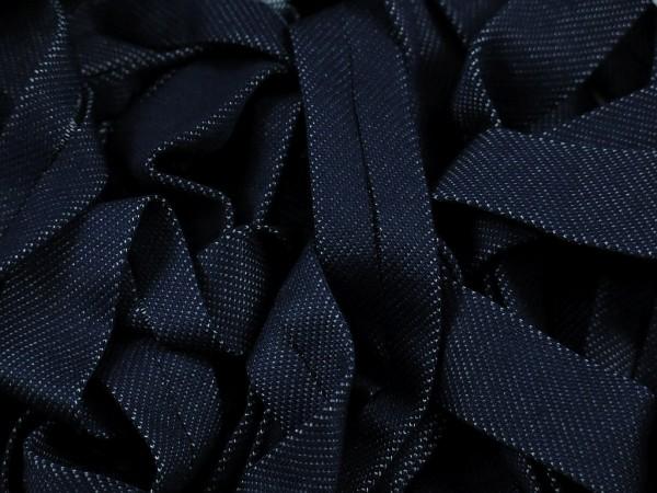 """Jeans Jersey Schrägband """"dunkelblau"""" 20mm"""